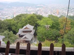 松山城天守閣からの展望